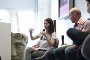 Samantha talks on the panel