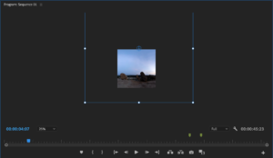 Image of editing inside premier pro